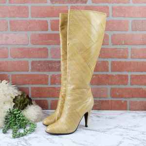 Brian Atwood Vintage Eel Skin Boots 37